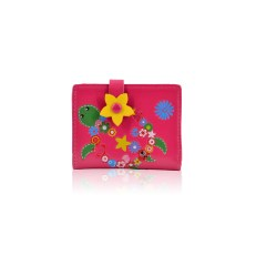 Flower Turtle Small Purse Fuschia