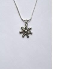 Tibetan Silver Snowflake Pendant