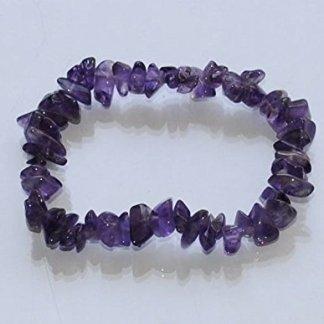 Amethyst Gemstone Chip Bracelet