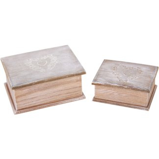 Pair of vintage trinket boxes