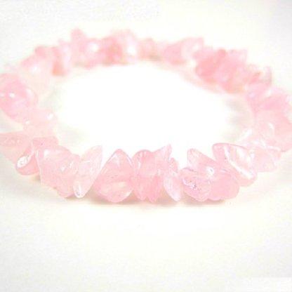 Rose Quartz Gem Chip Bracelet