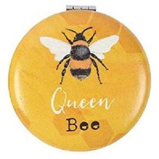 Compact Mirror BEE - Fun Cute Design Makeup Mirror - Girls Ladies - Gift Present