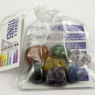 Chakra Stones With Wash Bag Includes 7 Stones