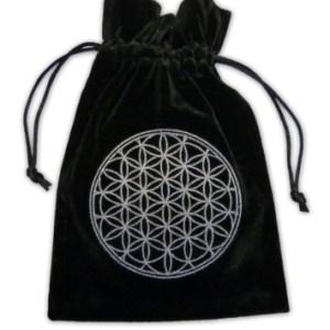 Flower Of Life Embroidered Velvet Tarot Bag