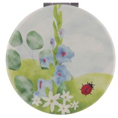 New Collectable Botanical Ladybird Design Compact Mirror