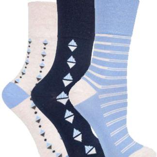 Ladies Gentle Grip Patterned Socks Size UK 4-8 Eu 37-42