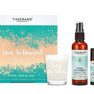 Tisserand Aromatherapy Time to Unwind Mood Fix Mist Roller Ball Candle
