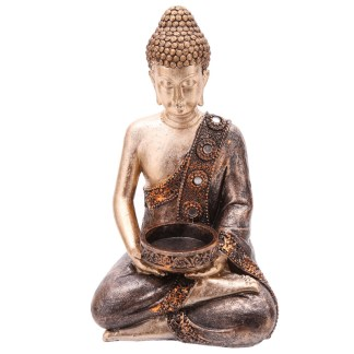 Decorative Thai Buddha Figurine Tea Light Holder