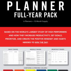 High Performance Planner Full-Year Pack: 6 Planners = 12-Month SupplyDiary