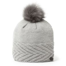 Maria Knit Hat - Soft Grey Marl