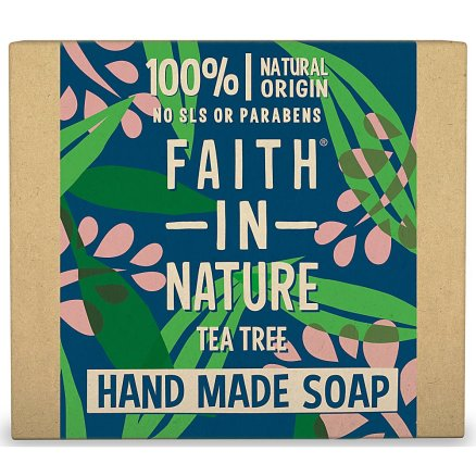 Faith In Nature Hand Made Tea Tree Soap With Tea Tree Oil 100g