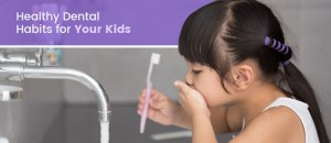 Young girl brushing her teeth for a good dental health