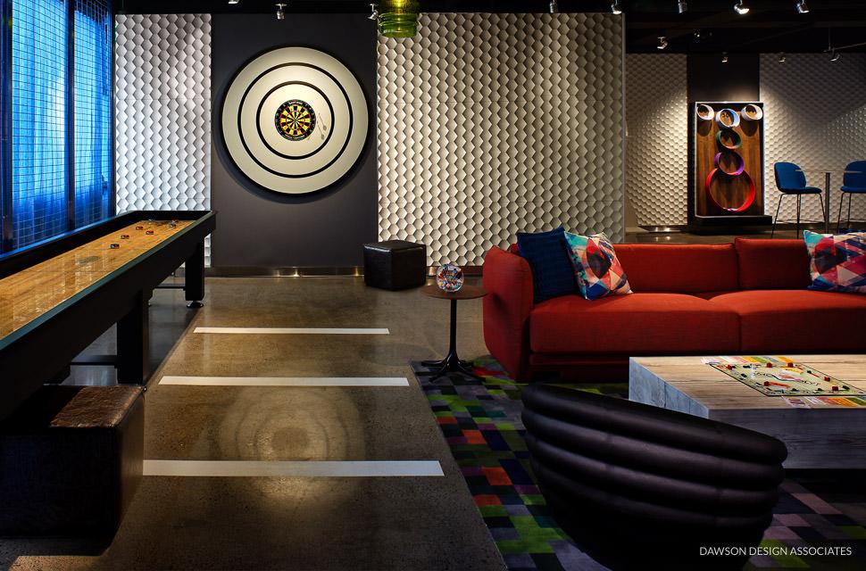 Hotel Modera Game Room Dawson Design Associates