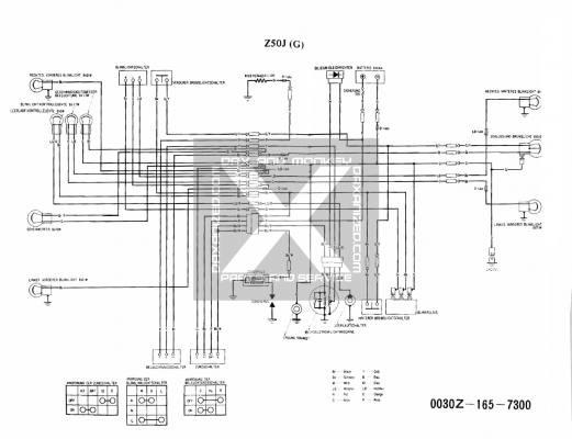 Wiring Diagram Honda Z50J 6 Volt