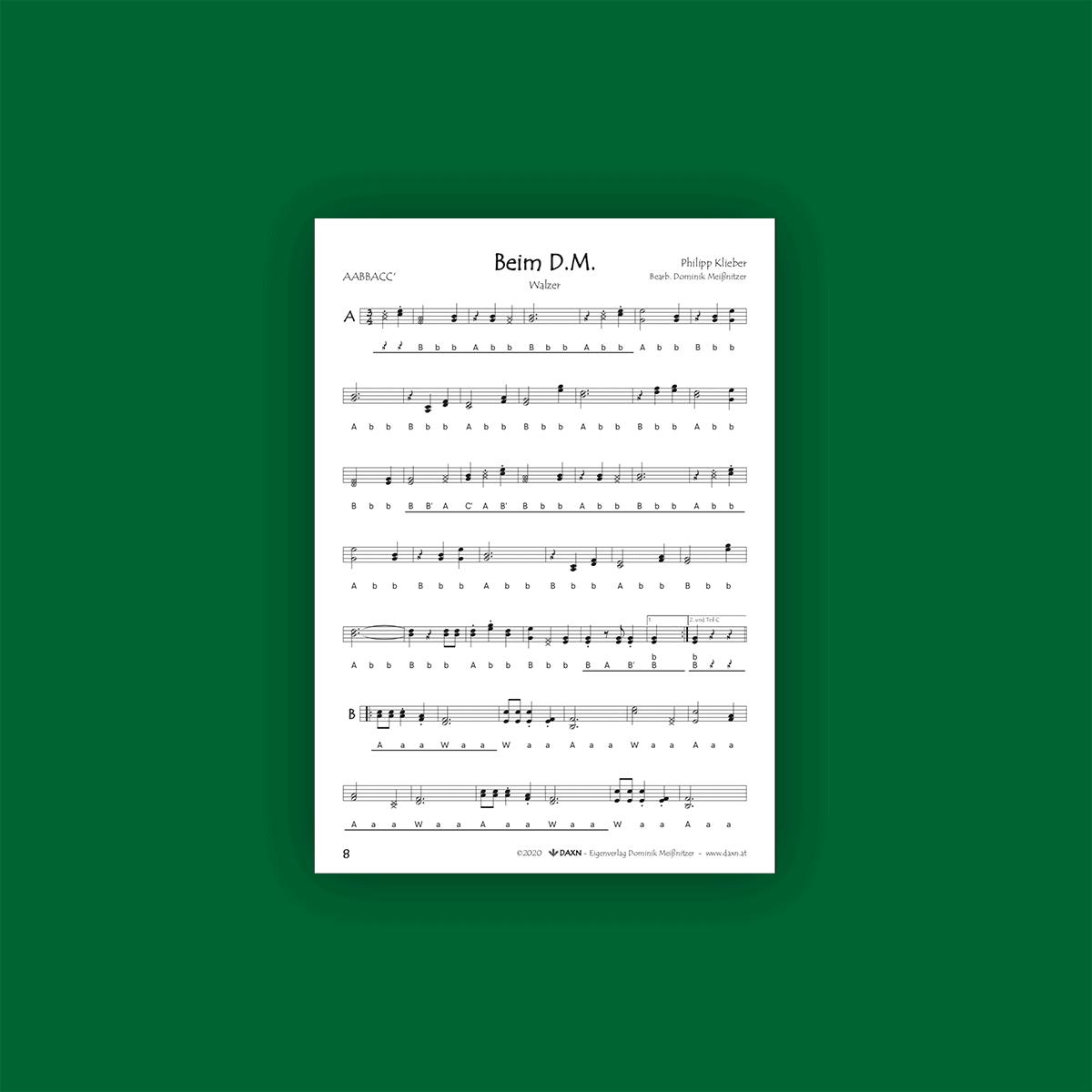 Harmonikastücke 2 Notenbeispiel