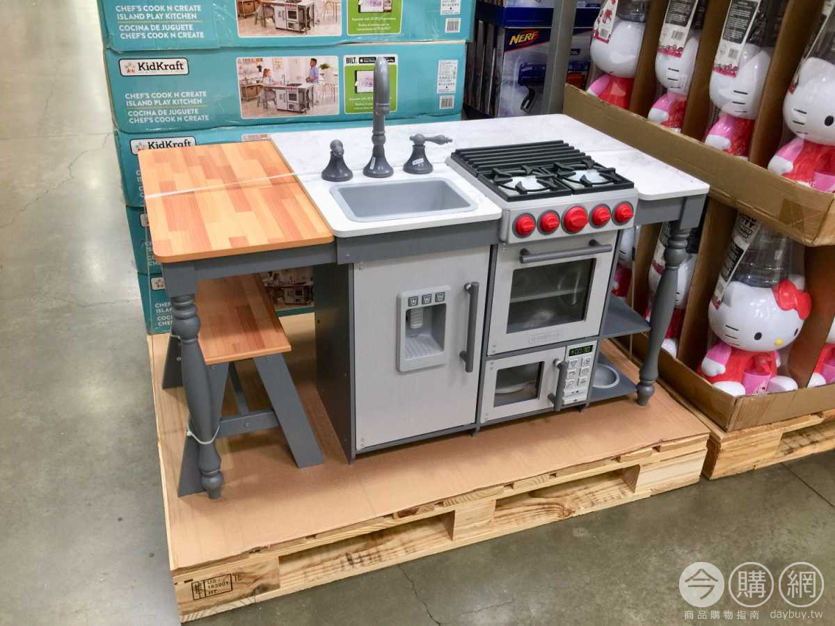 kidkraft toy kitchen utility cabinet costco好市多kidkraft 小小中島式遊戲廚房 1211133 costco好市多商品經驗 costco好市多商品經驗老實說
