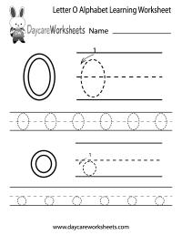 Free Letter O Alphabet Learning Worksheet for Preschool