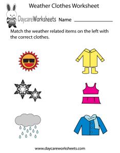 also free preschool weather clothes worksheet rh daycareworksheets