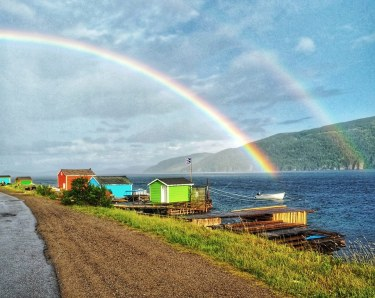 Double Rainbow Middle Arm, Nfld