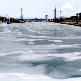 Cherry St. Bridge - solid ice