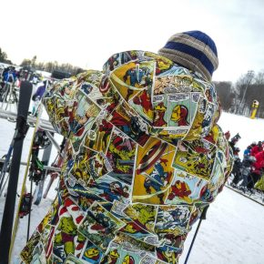 Even got a day of skiing in. Loved this guy's getup. He bought if off 'Fun.com'