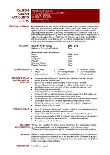 hr entry level resume template
