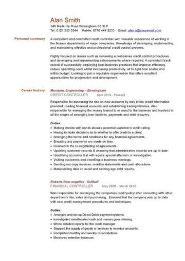 Financial CV template Business administration CV templates accountant financial jobs