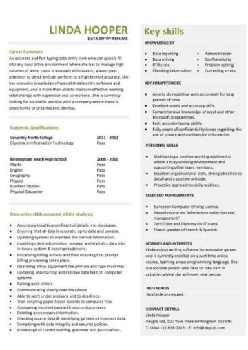 accounting graduate resume template