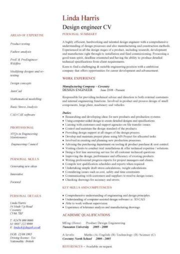 cv template for it graduate