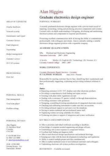 Graduate CV template student jobs graduate jobs career curriculum vitae qualifications