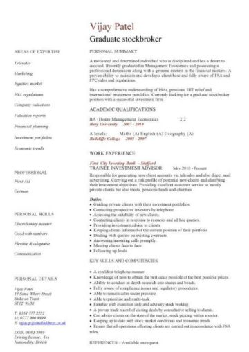 resume template for post graduate