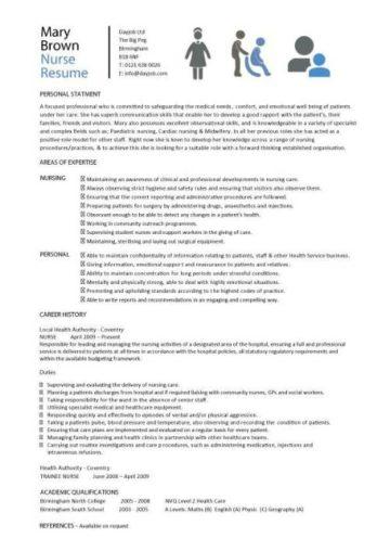 registered nurse resume sample australia