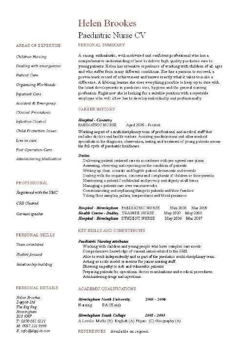 nurse resume example