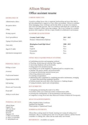 entry level resume templates CV jobs sample examples free download student college graduate