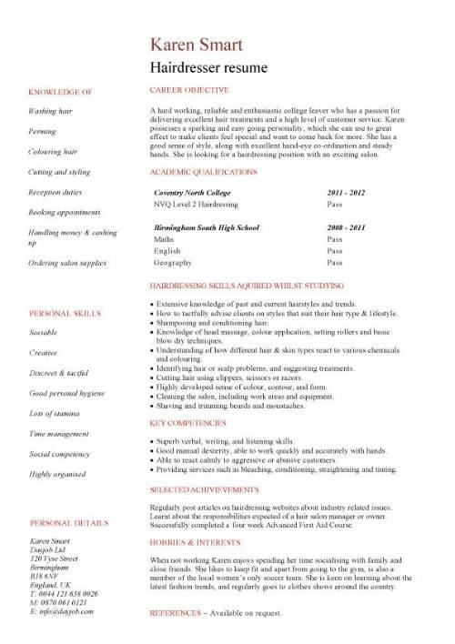 english resume template student
