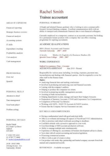 Financial CV Template Business Administration CV
