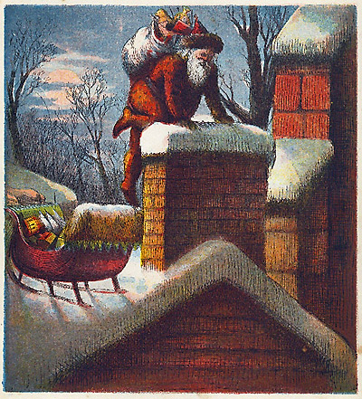 Santa's visit, by Thomas Nast