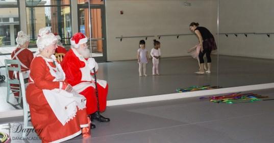 Showing Santa our dance