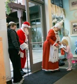 Mrs. Claus & Santa making their annual visit