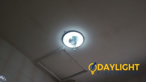 small resolution of replace ballast starter ceiling fluorescent light troubleshooting electrician