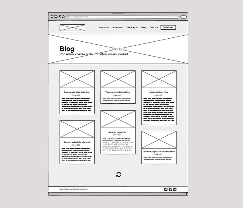 DPA ux design blog wireframe