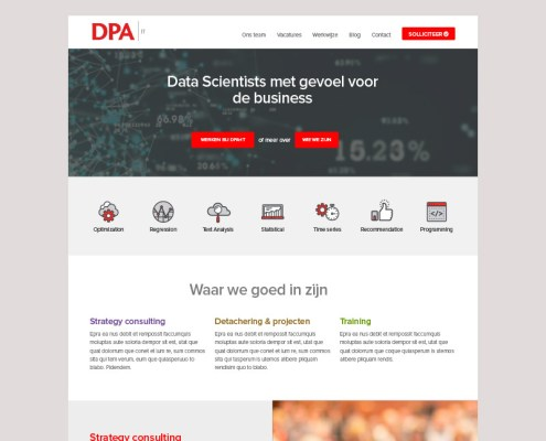 DPA ux design homepagina