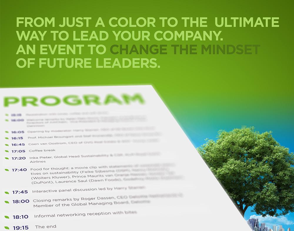 AmCham vormgeving pagina met programma