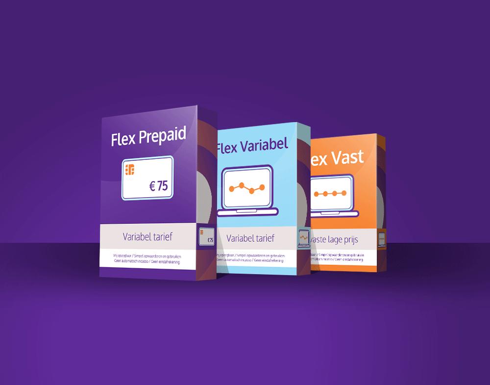 Energie Flex ontwerp product verpakkingen