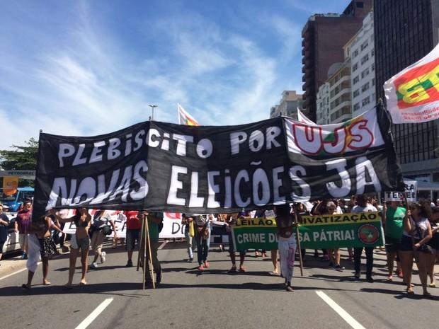 Manifestação contra o presidente Michel Temer. Agora no Rio.