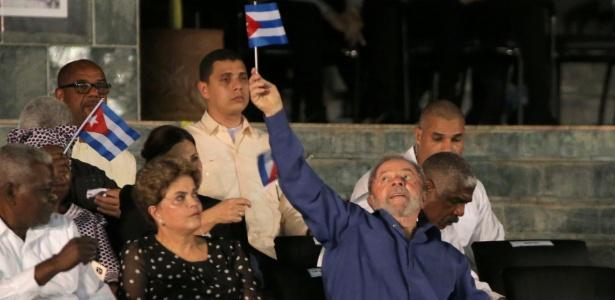 Lula e Dilma foram a Cuba para homenagens a Fidel Castro