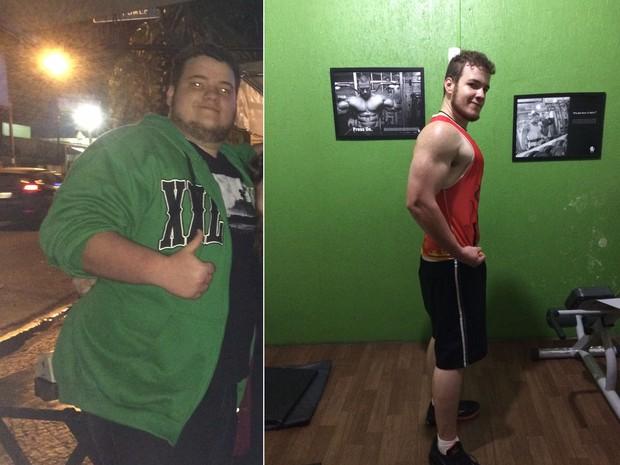Universitário muda hábitos e perde 61,5 kg em 12 meses em Piracicaba