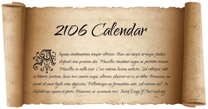 june 2106 calendar
