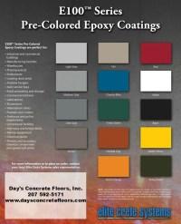 Epoxy Color Chart - Epoxy Floor Paint Color Chart