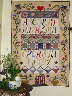 Alphabet-quilt